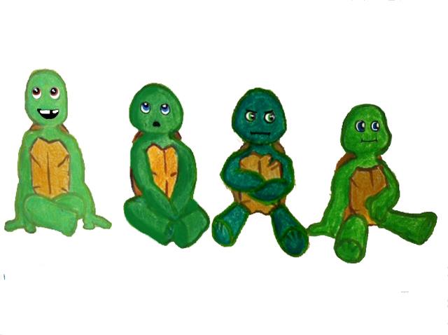 Baby Ninja Turtles by KikaKatTIOI on DeviantArt