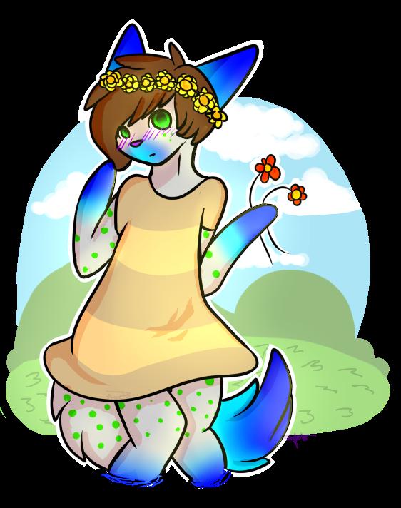 Blooming Messenger Flower by AyelaKoa22