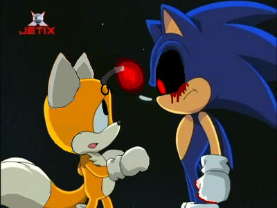 Sonic Exe And Tails Doll By Pinkpartypony22 On Deviantart