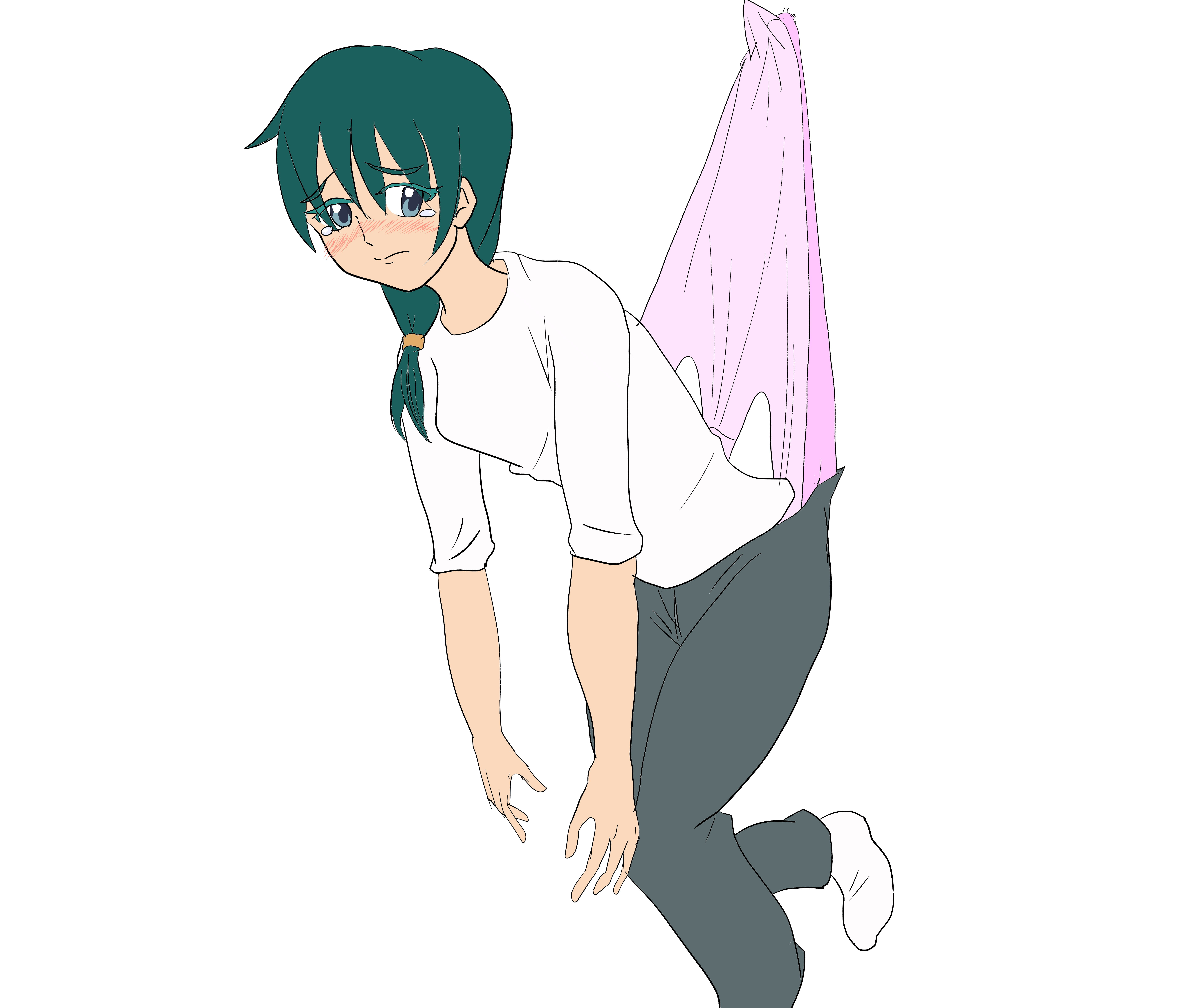 Anime girl wedgie very