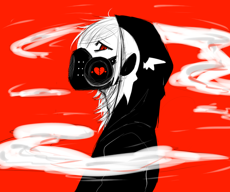 Killer mansion creepypasta story murder house - Anime girl with gas mask ...