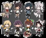Mini Halloween Adopts 3 (CLOSED) by bakaqeyama