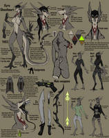 Kyra Ghostheart | Reference sheet 2019 by SaltySerpent