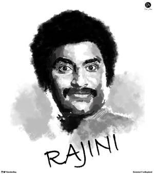 Rajinikanth digital portrait painting