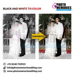 Black and white to color Image editing services