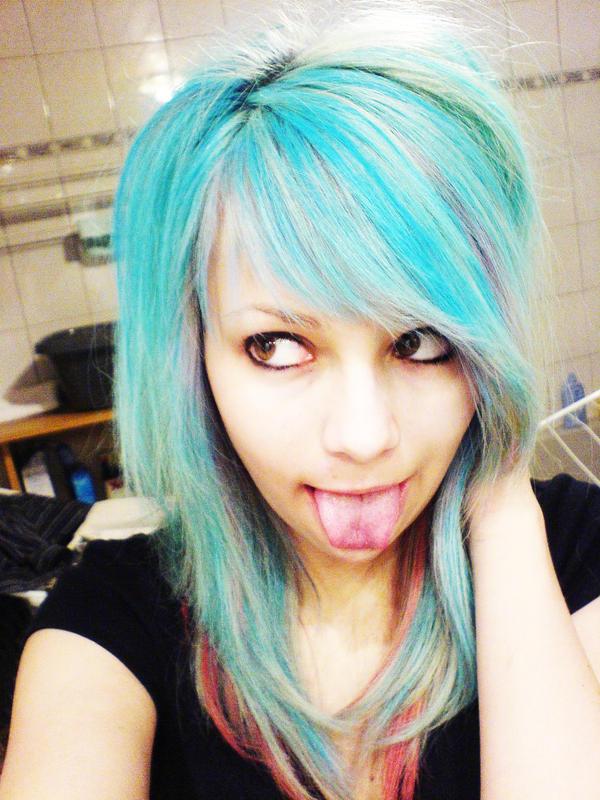 Blue Hair Again Xd By Xcutebubblex On Deviantart-2157