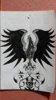 Folklore griffin or small phoenix.