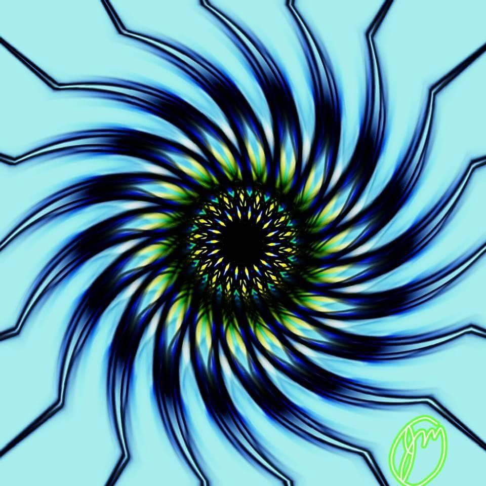 iris pinwheel