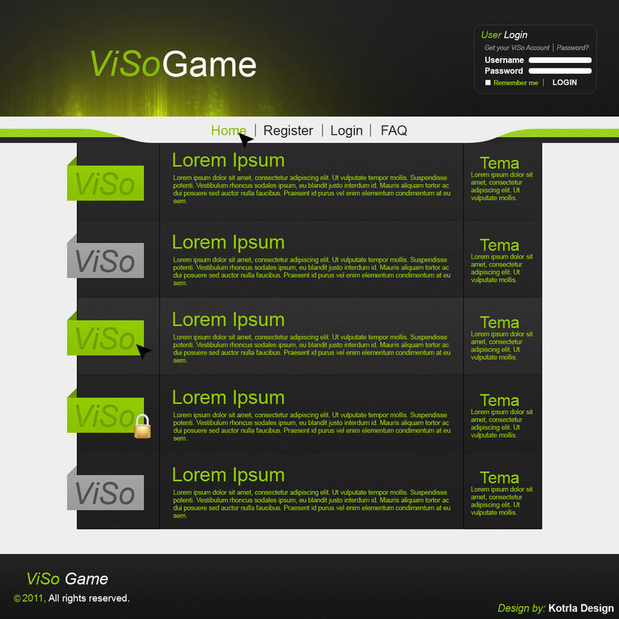 ViSo Game Forum Design By Kotrla On DeviantArt - Game design forum