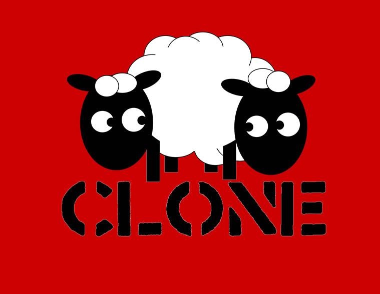 Clone Skateboards sheep logo by dandroid