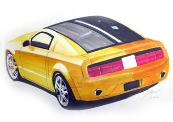 Mustang GT rear - marker by myadlan