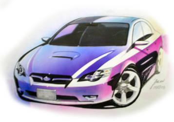 Subaru Legacy - marker by myadlan