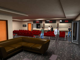Waiting Area 3D Visualization by myadlan