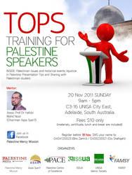 Training of Palestine Speaker by myadlan