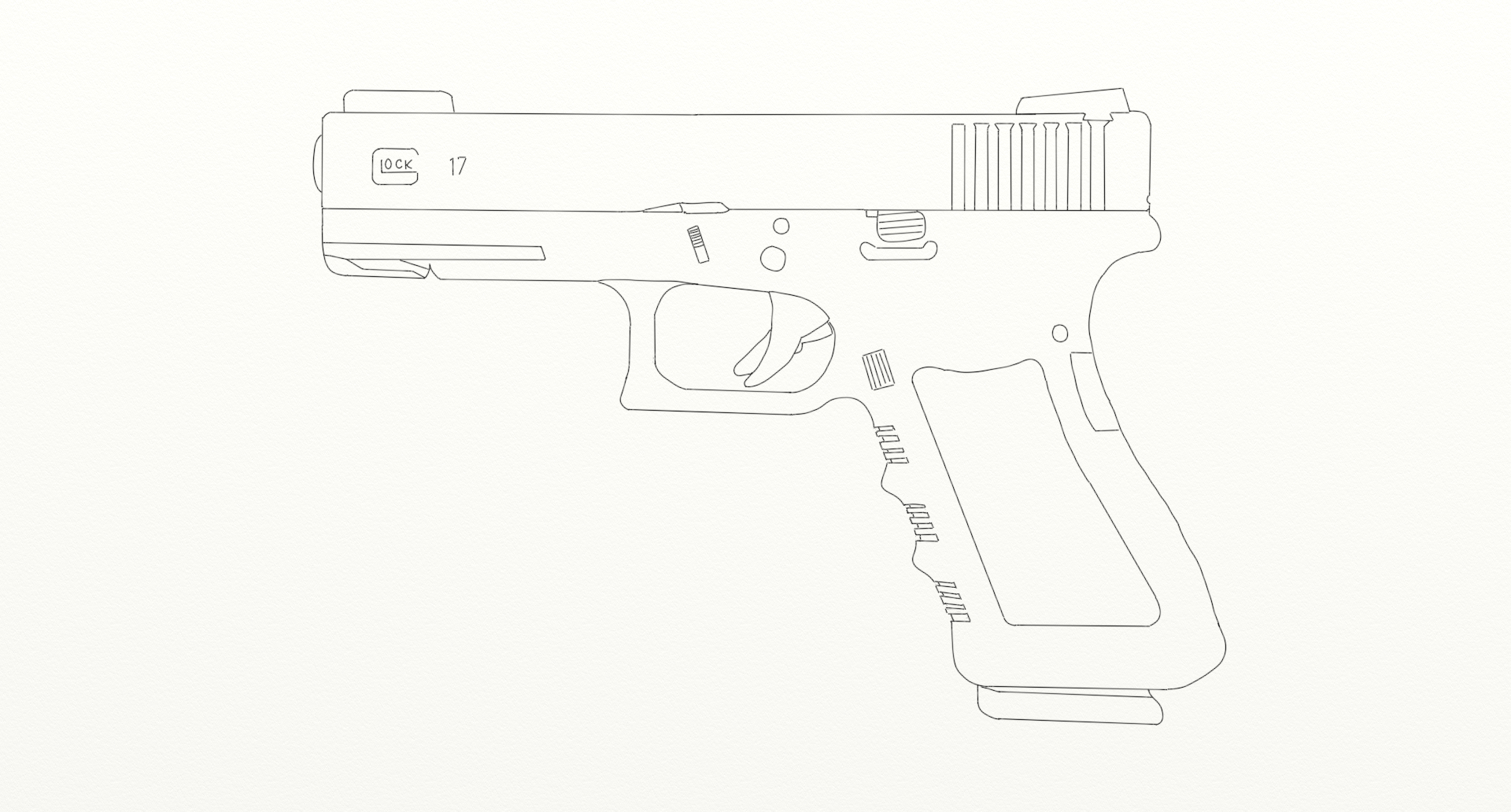 Line Art Ks : Glock drawings pictures to pin on pinterest daddy