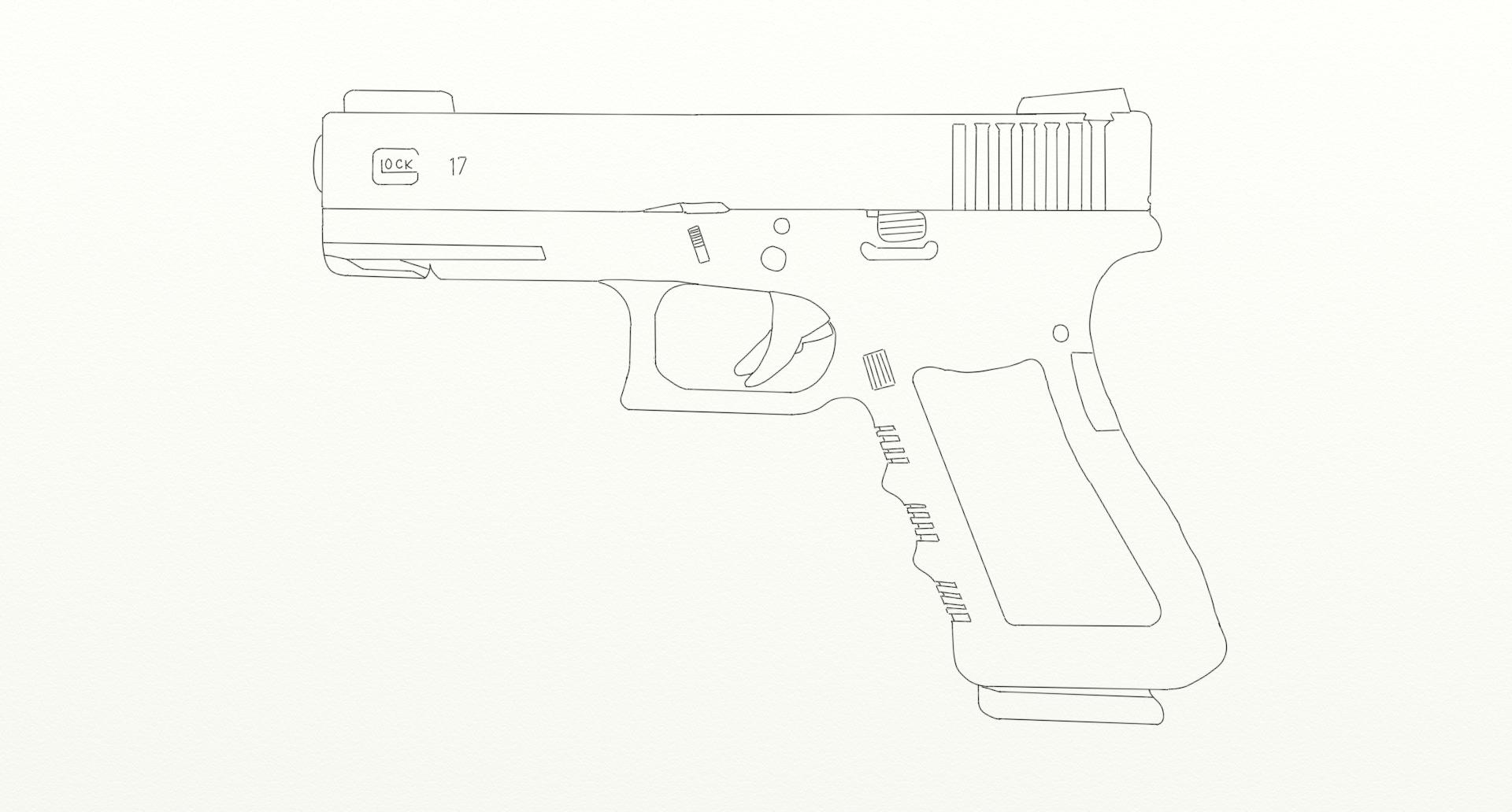 Glock 17 (line drawing) by cidician on DeviantArt