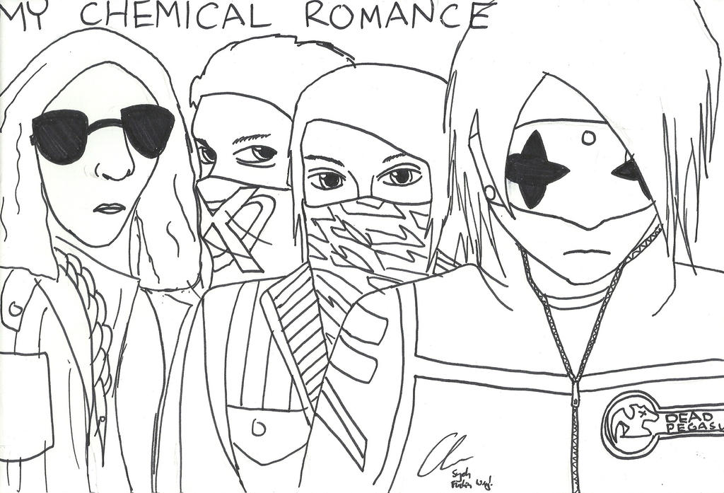 chemistry coloring page - my chemical romancew free coloring pages