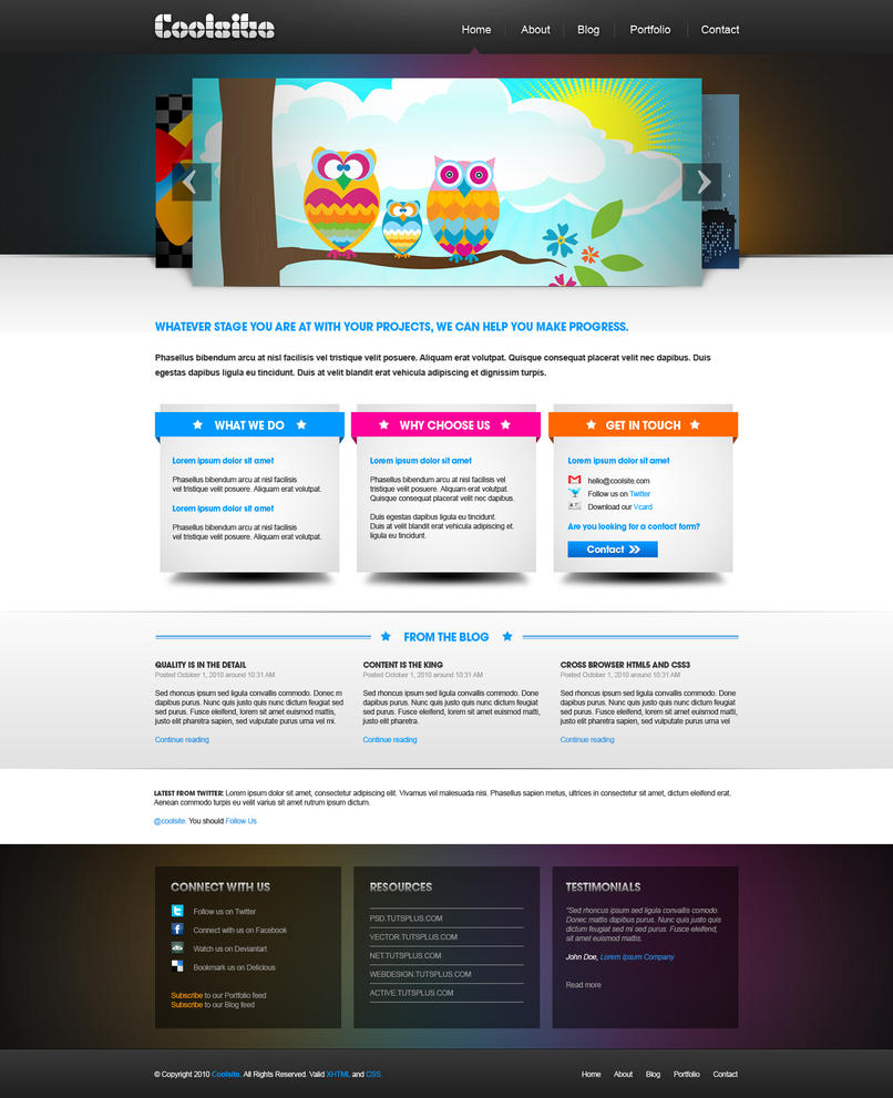 coolsite by xkaarux d32lqia Creatively Inspired Web Interface Designs