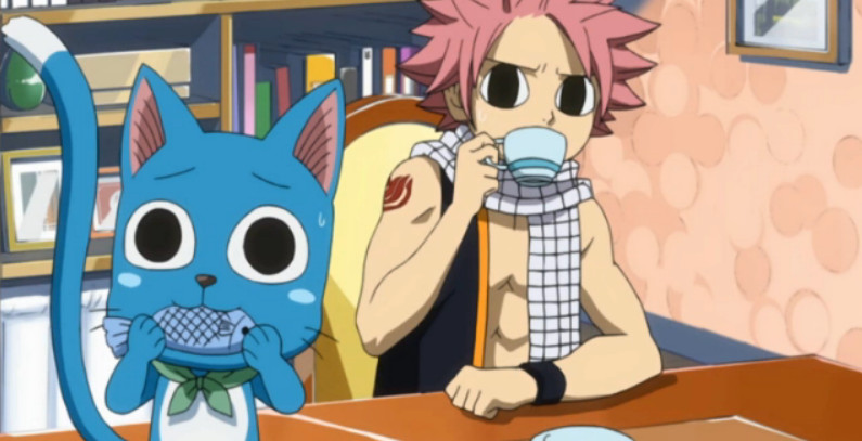 Fairy tail natsu and happy fish and tea by puffypaw on - Fairy tail happy and natsu ...