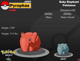 Fakemon - Pyrophas by KooboriSapphire