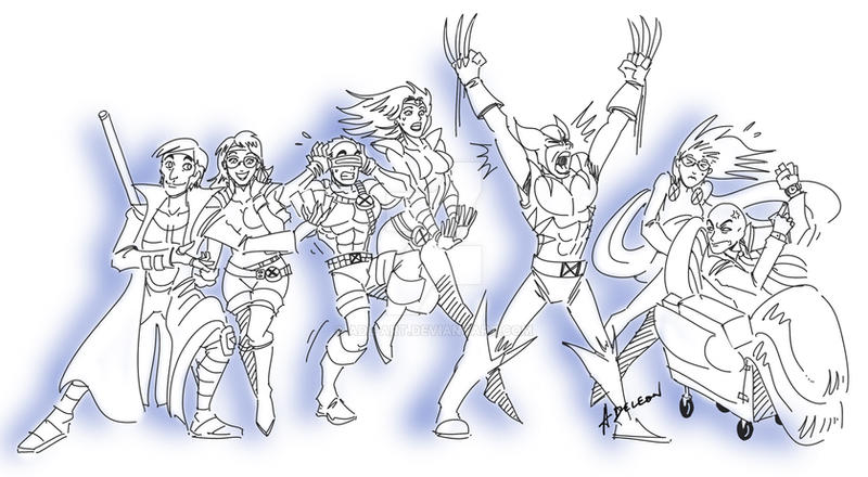 TBBT X-Men WIP by ADL-art