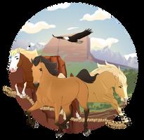 Cimarron herd by Wilage