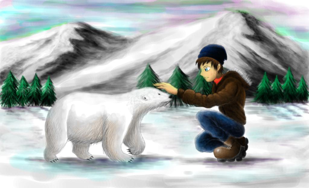 Boy and the Polar Bear by SteveniX