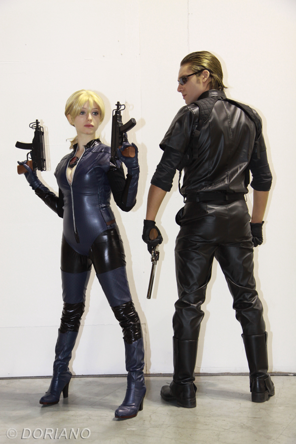 Jill battle suit and Albert Wesker by DavidCosplay