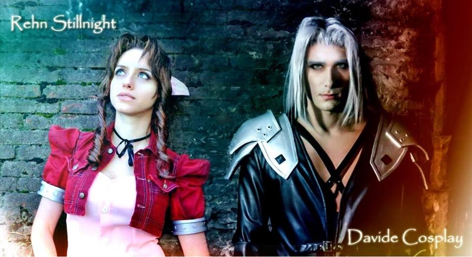 Aerith and Sephiroth by DavidCosplay