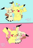Sparks likes Mimikyu a lot! by Teddie4Ever01