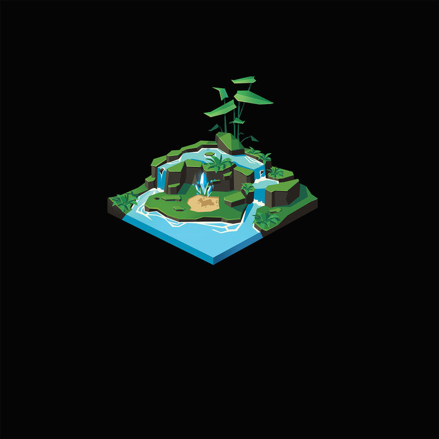 Tiny Isometric Pond I by remplica