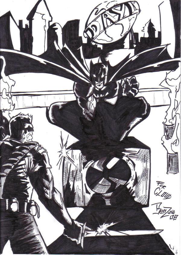 BATMAN VS BLADE by benzaie