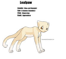 Leafpaw -COLORED TEMPLATE- by candracar272