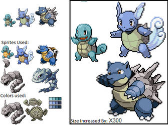Alternate Squirtle + Evolutions by BR0M0D0
