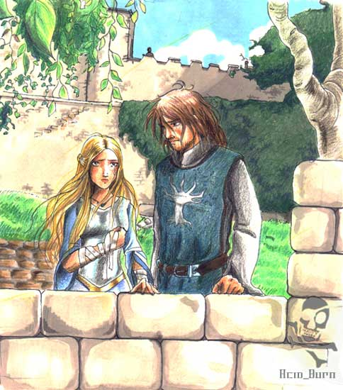 Faramir and Eowyn by a...