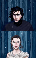 Kylo Vs Rey by acidbetta