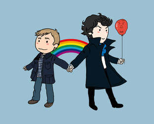 Pride to be Holmes and Watson by acidbetta