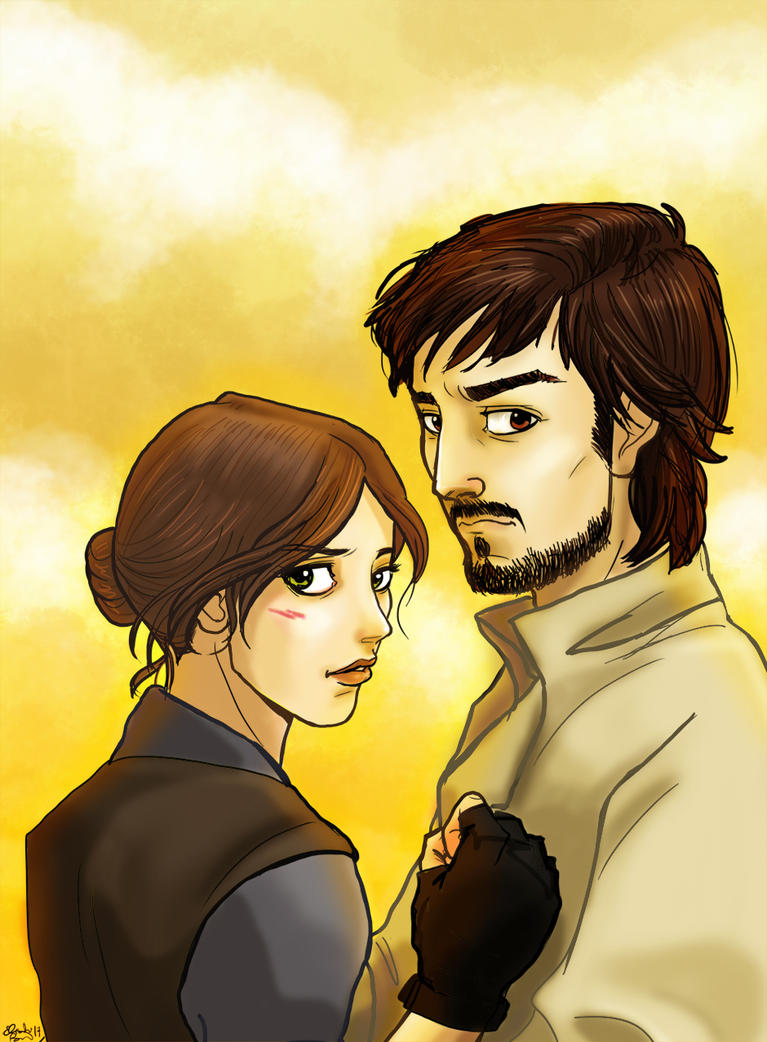 Jyn e Cassian by acidbetta
