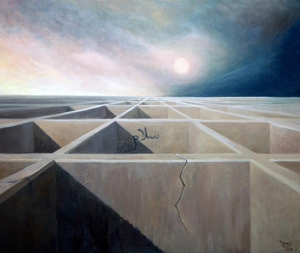 Frieden 60 x 70 cm, Oel auf Leinwand, 2014 by mkpicture