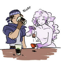 FF6- Tea with my buddy by orinocou