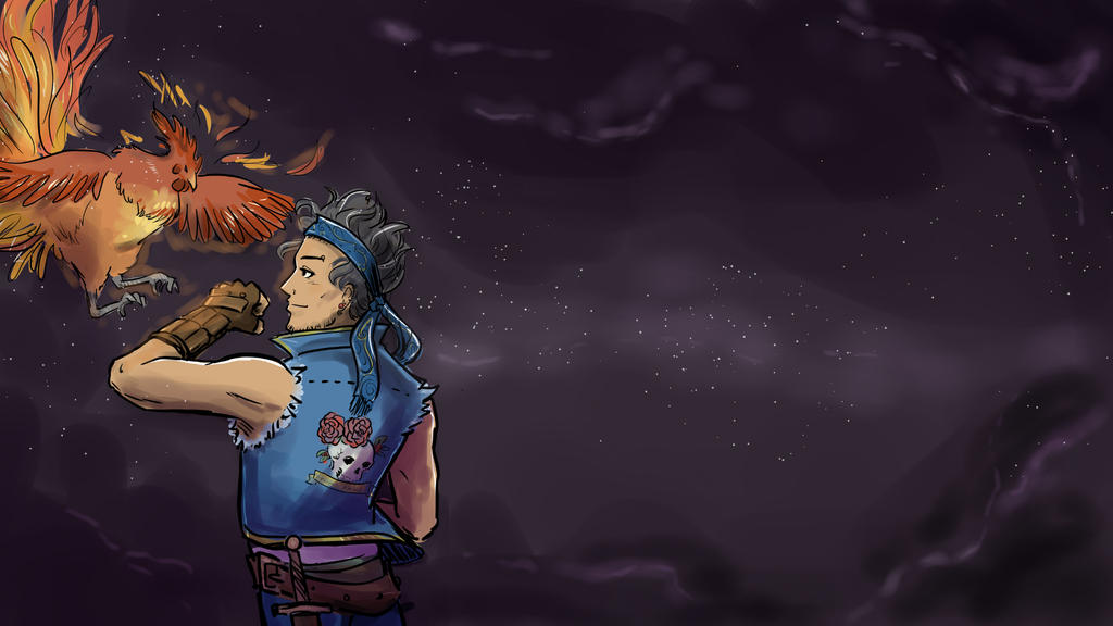 FF6 - Locke and Phoenix Desktop by orinocou