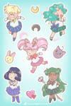 Sailor Moon Stickers - Outer Senshi