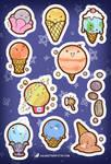 Ice Cream Planet Stickers by orinocou