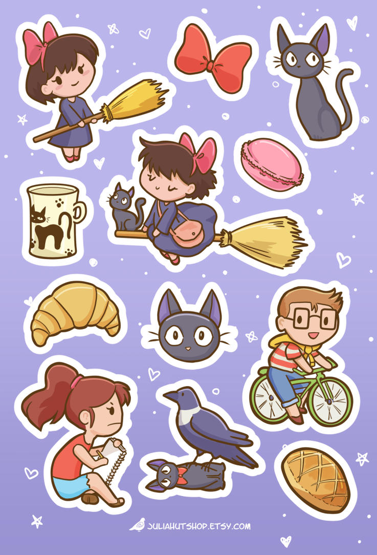 Kikis Delivery Service sticker sheet by orinocou