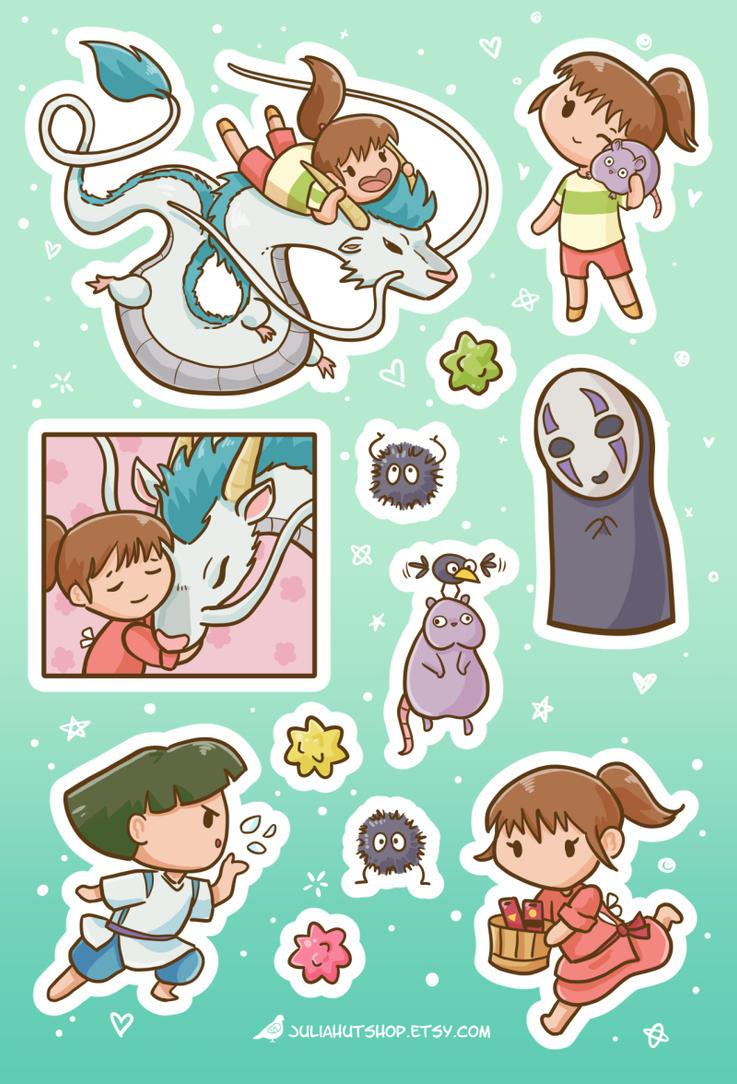 Spirited Away Sticker Set by orinocou