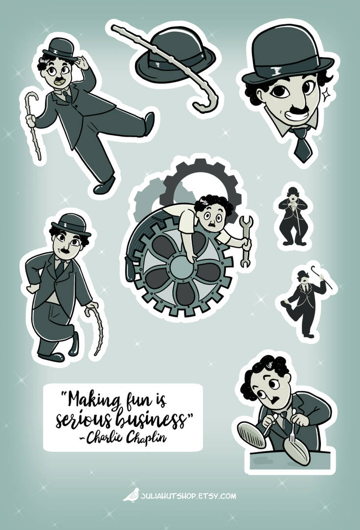 Charlie Chaplin Sticker Sheet by orinocou