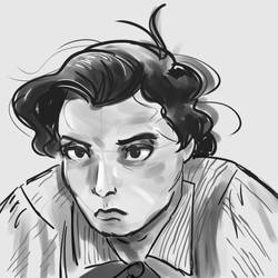 Buster Keaton sketch by orinocou