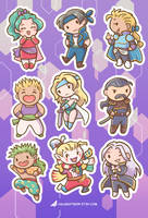 Final Fantasy 6 Stickers by orinocou