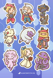Final Fantasy 6 sticker sheet- part 2 by orinocou