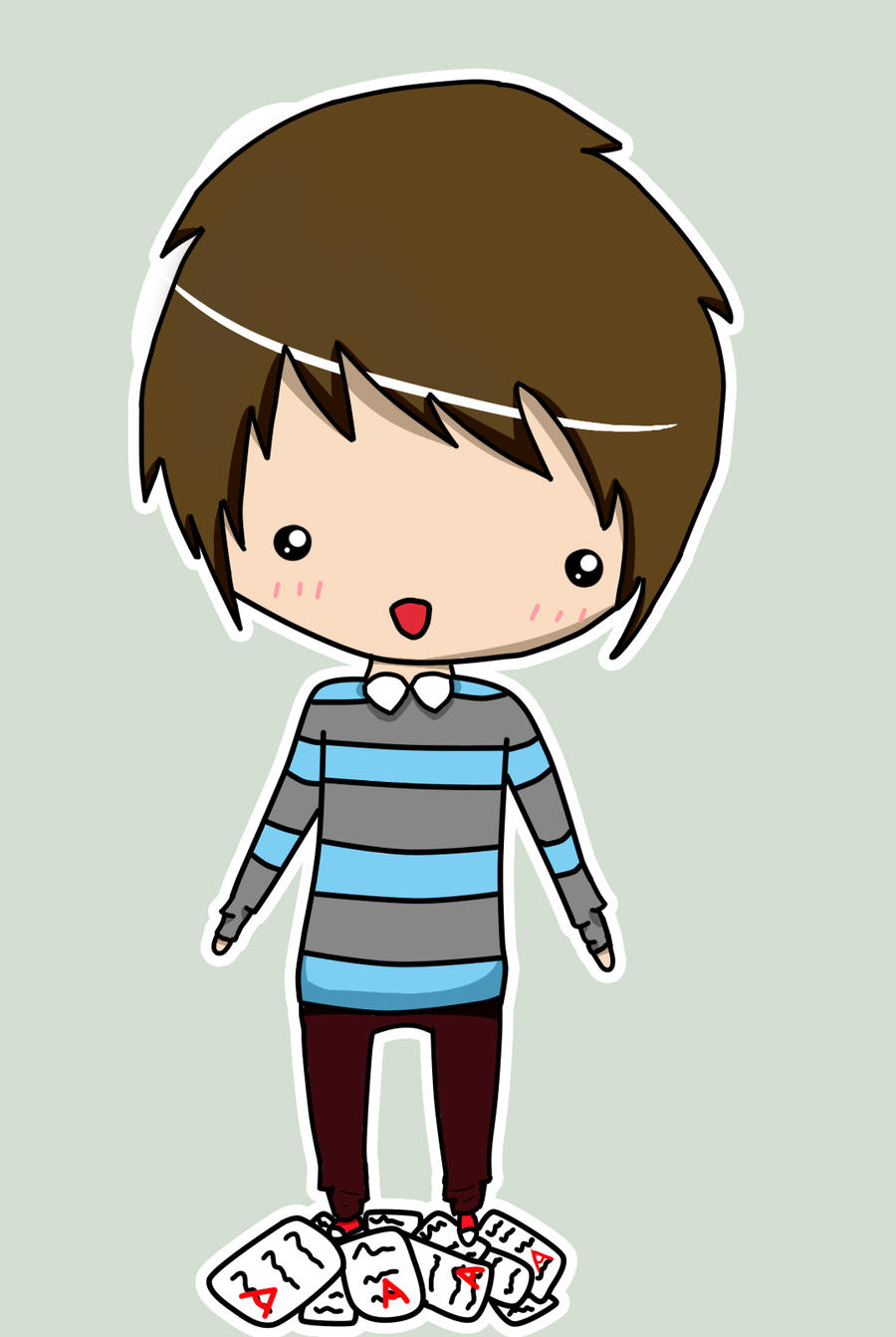 Chibi Boy Nerdie 3 By Darknadin On Deviantart How To Draw A Chibi Boy